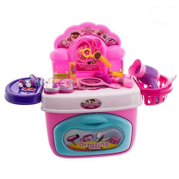 EURO BABY - Mini toaletní stoleček - růžová