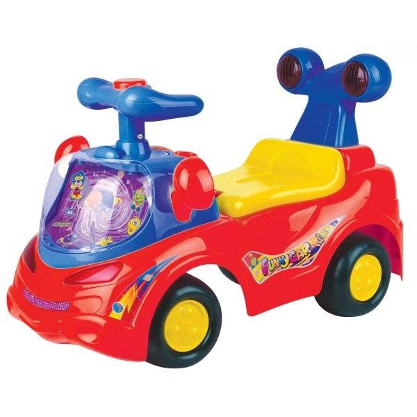 EURO BABY - Odstrkovadlo, odrážedlo, jezdítko - FUNNY CAR - červené