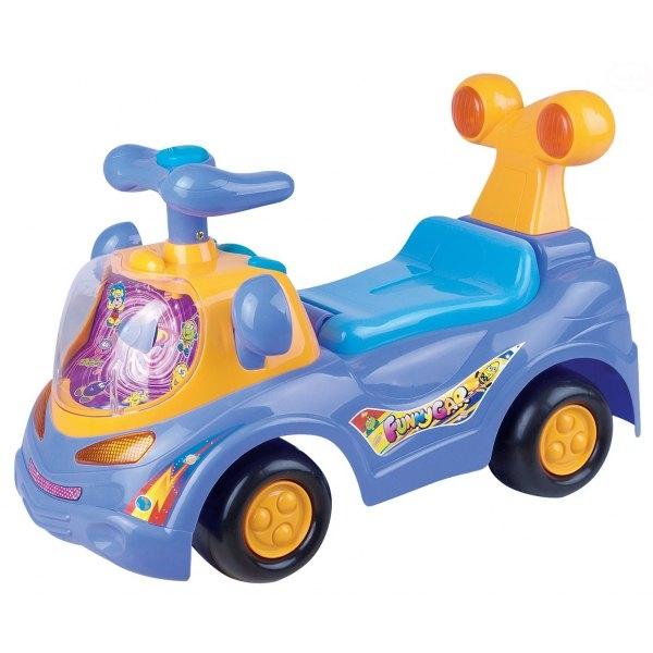 EURO BABY - Odstrkovadlo, odrážedlo, jezdítko - FUNNY CAR - fialové