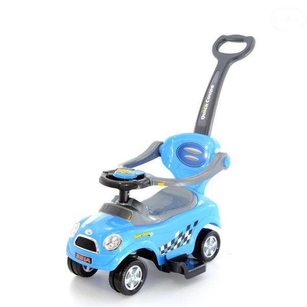 EURO BABY - Jezdítko,odstrkovadlo, odrážedlo 3v1 AUTÍČKO - modré