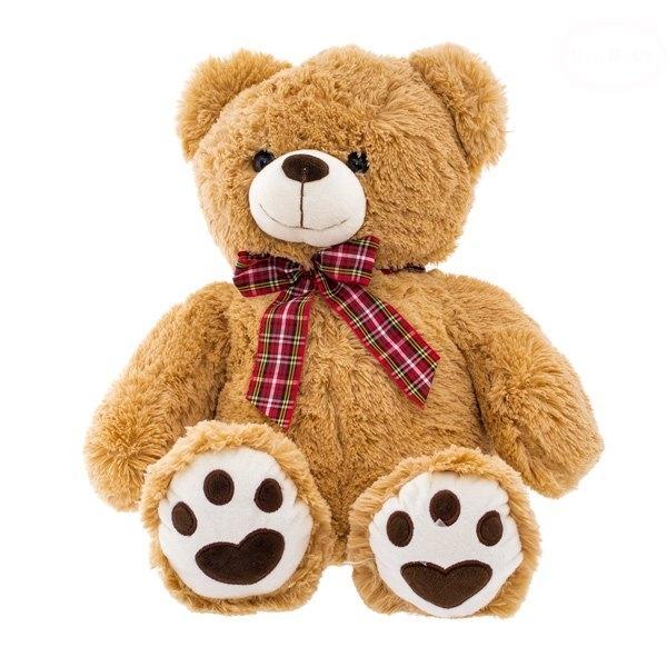 EURO BABY - Plyšový medvídek 46cm - sv. hnědý