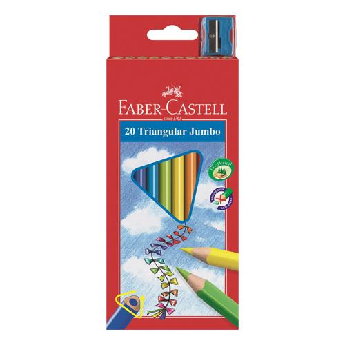 FABER CASTELL - \r\nECO pastelky Faber-Castell trojhranné se struhadlem 12ks, barevné