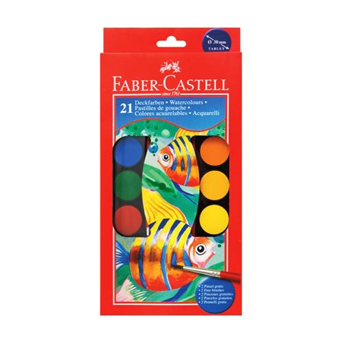 FABER CASTELL - Vodové farby Faber-Castell 21 farebné