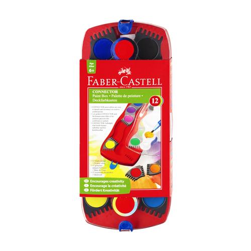 FABER CASTELL - Vodové barvy stavebnicové 12 barev