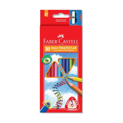 FABER CASTELL - Pastelky Faber-Castell Grip Junior 10 barev