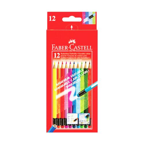 FABER CASTELL - Pastelky Faber-Castell gumovatelné 12 fareb