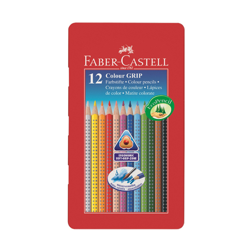 FABER CASTELL - Pastelky Grip 12 far