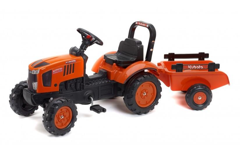 FALK - Šlapací traktor Kubota M7171 s vlečkou 2065AB