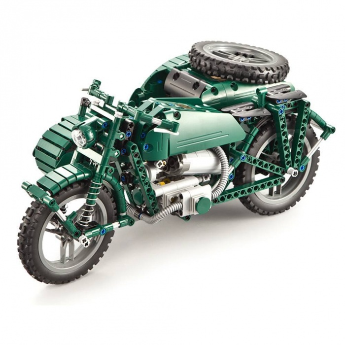 FLEG - Vojenská motorka se sajdkárou na dálkové ovládání