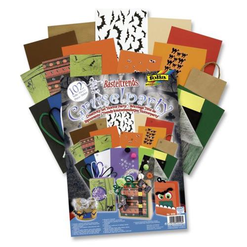 FOLIA - Dárkový kreativní set Halloween - 102 ks