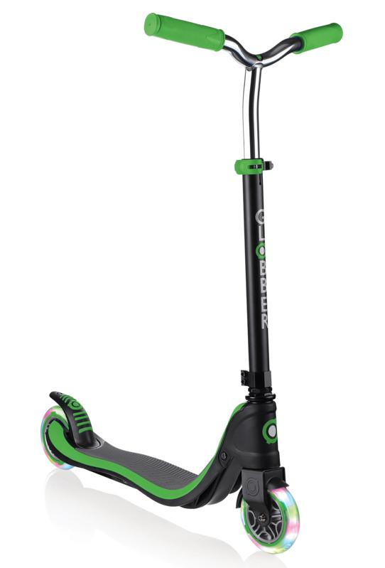 GLOBBER - Koloběžka Flow 125 Lights Black / Neon Green