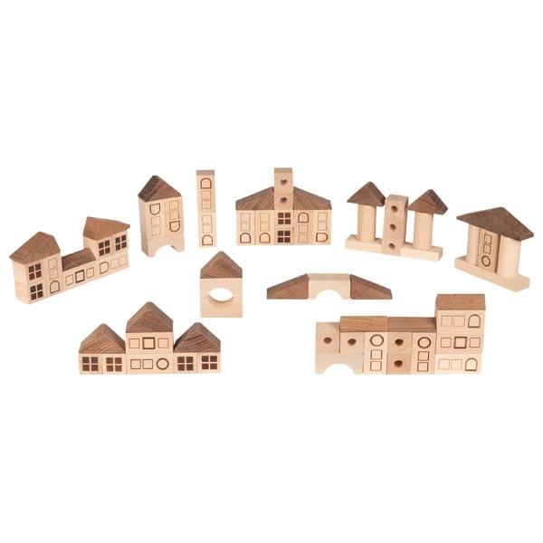 GOKI - Kostky dřevěné Městečko