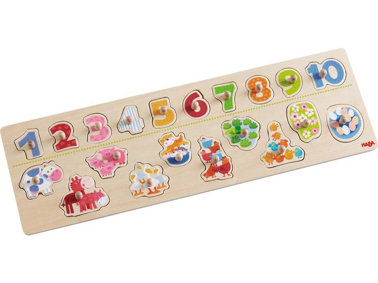 HABA - Puzzle Zvířátka podle čísel