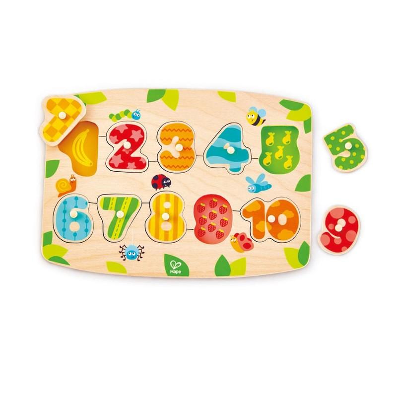 HAPE - Vkládací puzzle Čísla 1-10