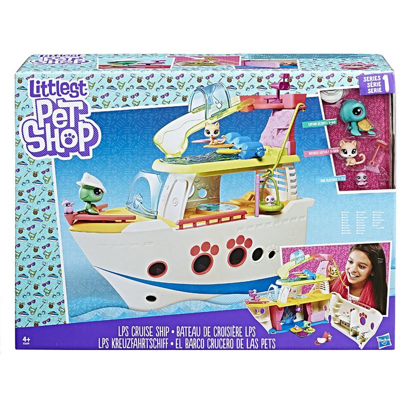 HASBRO - Littlest Pet Shop Hrací set - výletní loď se 3 zvířátky