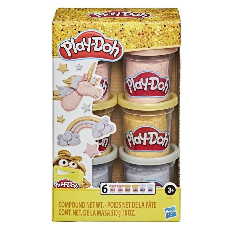 HASBRO - Play Doh METALLICS COMPOUND COLLECTION