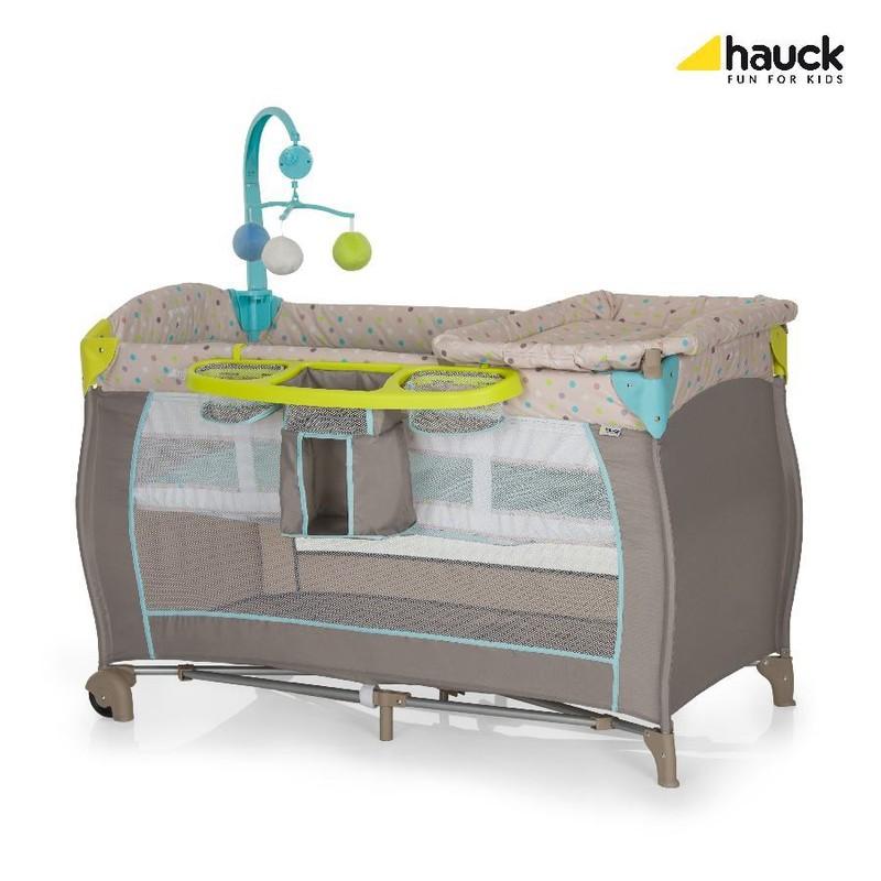 HAUCK - Dětská postýlka Babycenter - Multi Dots sand 2018