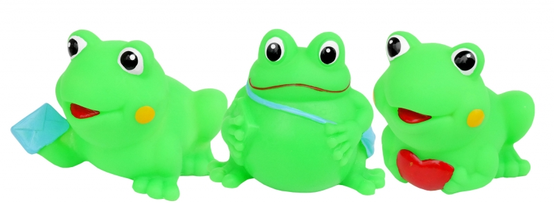 HENCZ TOYS - Gumové zvířátka do vody - veselé žabičky, 3ks v balení