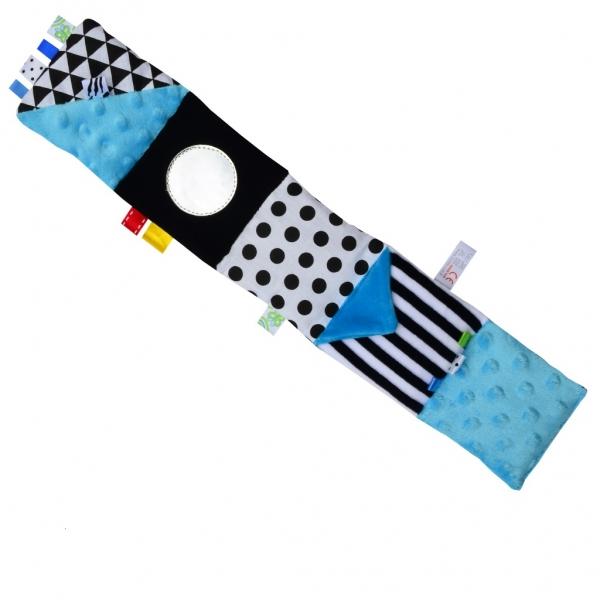 HENCZ TOYS - Mini textilní knížka - modrá