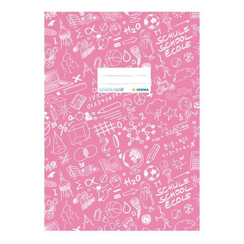 HERMA - Obal na sešit Schooldoo A4 světle růžový / 1ks