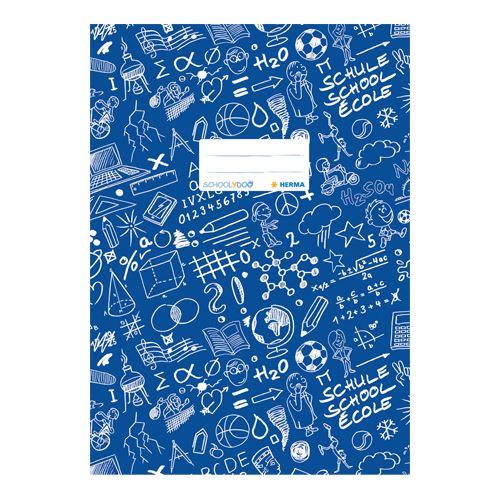 HERMA - Obal na sešit Schooldoo A4 tmavě modrý / 1ks