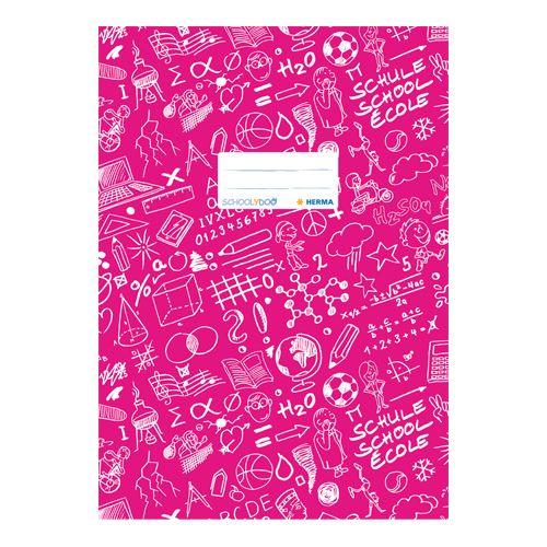 HERMA - Obal na sešit Schooldoo A4 tmavě růžový / 1ks