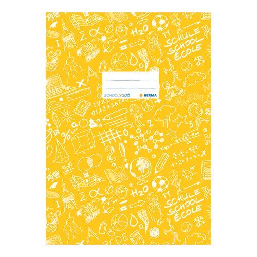 HERMA - Obal na sešit Schooldoo A4 žlutý / 1ks