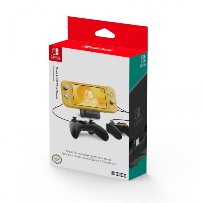 HORI - Dual USB PlayStand for Nintendo Switch Lite, USB stojánek pro Nintendo Switch a Nintendo Switch Lite