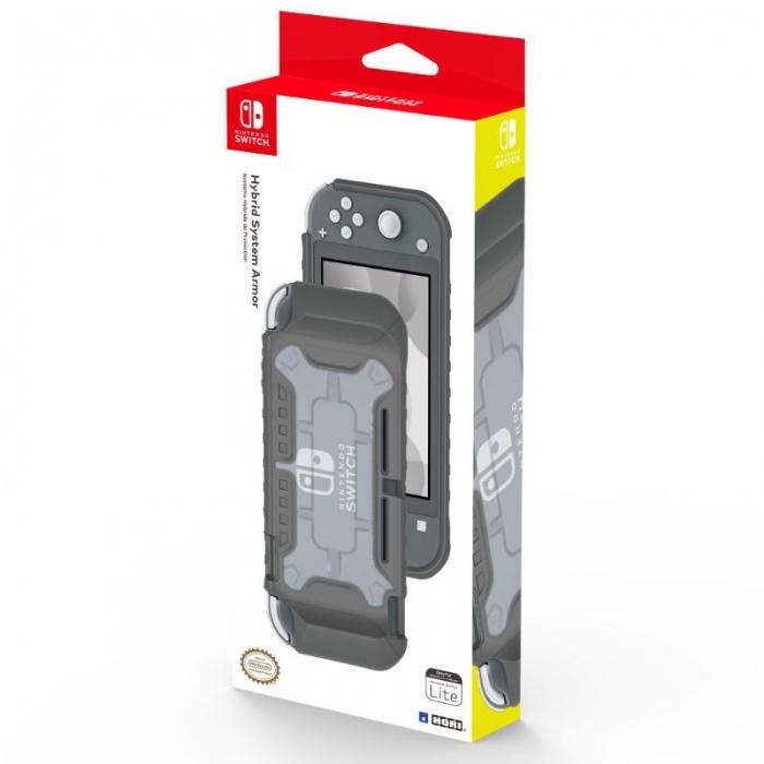 HORI - Hybrid System Armor (Grey) - Nintendo Switch Lite, Oficiálně licencovaný ochranný obal pro Nintendo Switch Lite