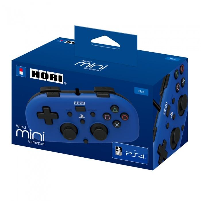 HORI - PS4 HoriPad Mini Wired Controller - Blue, Drátový ovladač pro PS4