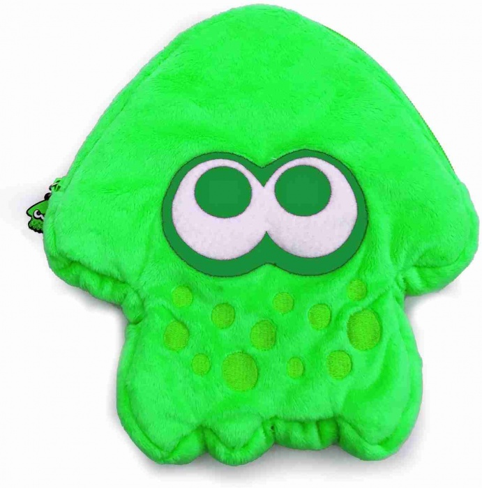 HORI - Splatoon 2 Plush Pouch for Nintendo Switch (Green)