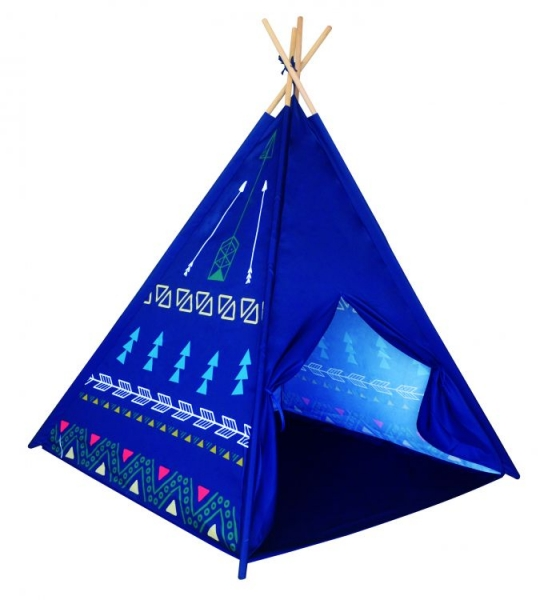 I PLAY - Stan pro děti teepee, týpí - modrý