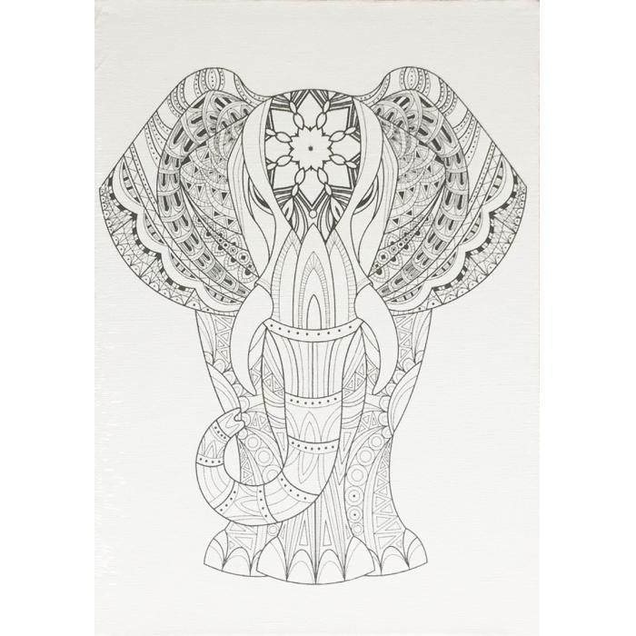 IMPAP - Malířské plátno s předtiskem - Slon