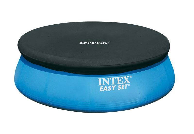 INTEX - 28020 Krycí plachta na bazén Easy 2,44 m černá