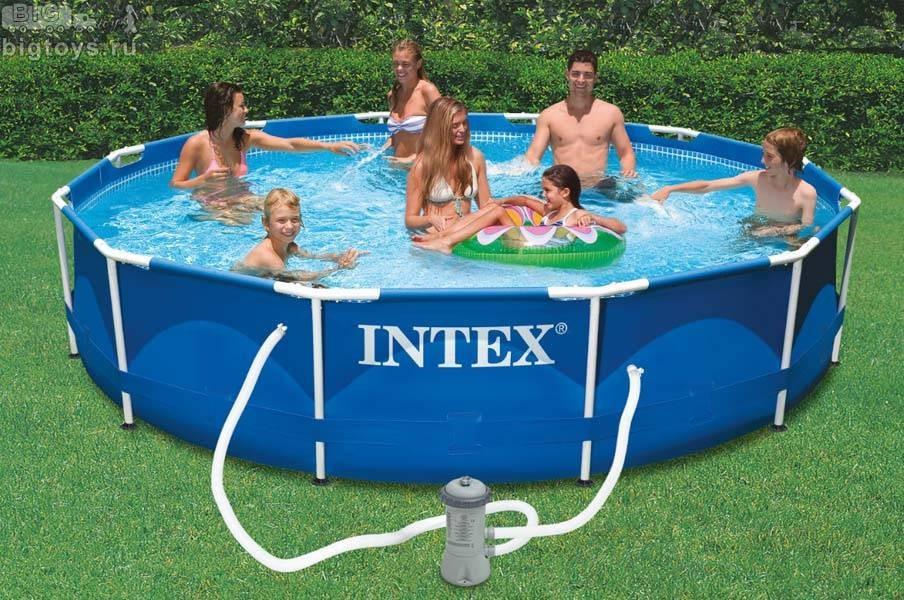 INTEX - Bazén Metal Frame 457 x 122 cm s kartušovou filtrací 28242
