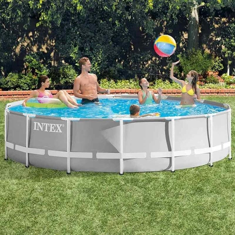 INTEX - Bazén Prism Frame 427 x 107 cm s filtračním zařízením 26720