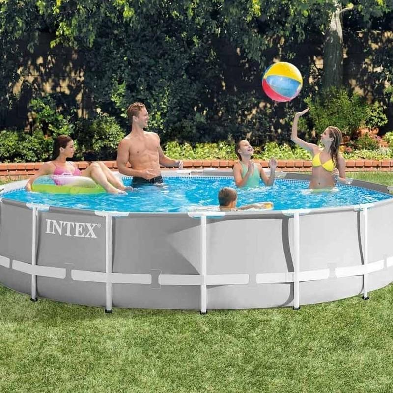 INTEX - Bazén Prism Frame 457 x 107 cm s filtračním zařízením 26724