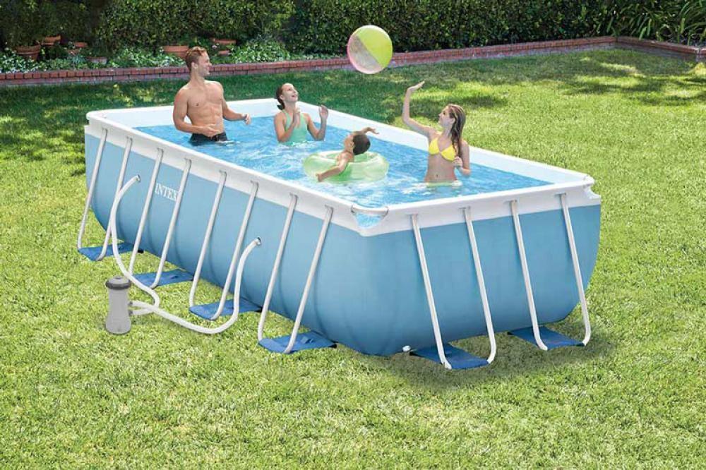 INTEX - bazén Prism Frame obdélníkový 488 x 244 x 107 cm s filtračním zařízením 28318