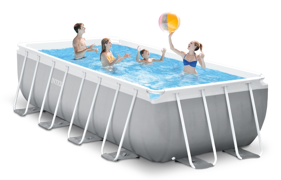 INTEX - Bazén Prism Frame Rectangular Pools 4,88 x 2,44m x 1,07m, s filtrací 26792NP