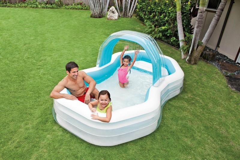 INTEX - bazén Swim center oválný Family Cabana 57198