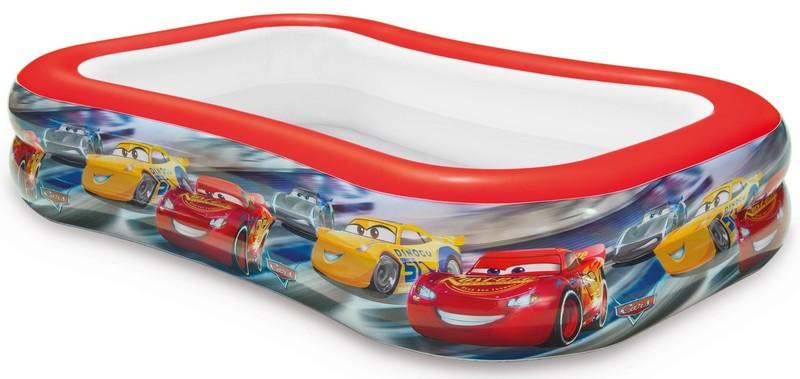INTEX - dětský nafukovací obdélníkový bazén Cars 57478