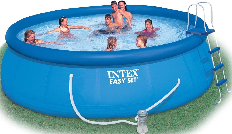 INTEX - nafukovací bazén 457x122 cm s filtračním zařízením 28168