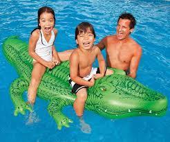INTEX - Nafukovací krokodýl s držadly velký 58562