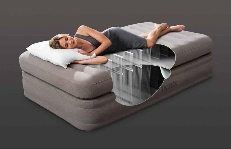INTEX - nafukovací postel 64444 Prime Comfort Twin s integrovanou elektrickou pumpou