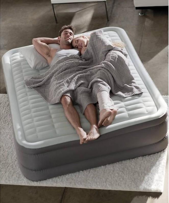 INTEX - nafukovací postel 64484 PremAire FULL s integrovanou elektrickou pumpou