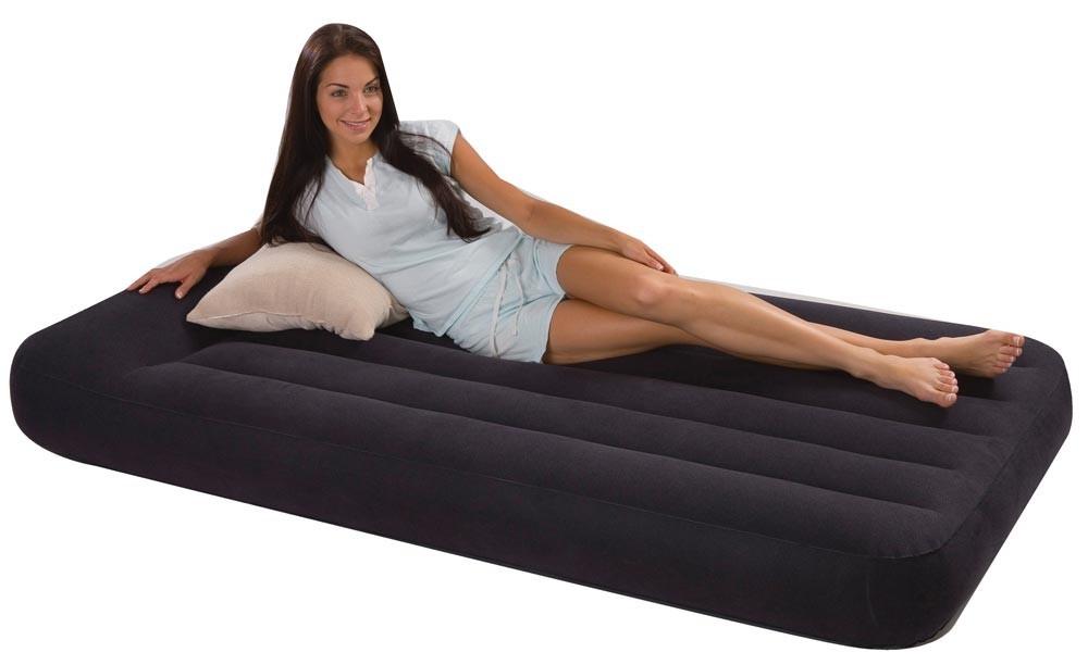 INTEX - nafukovací postel 66779 Classic Pillow TWIN s integrovanou elektrickou pumpou