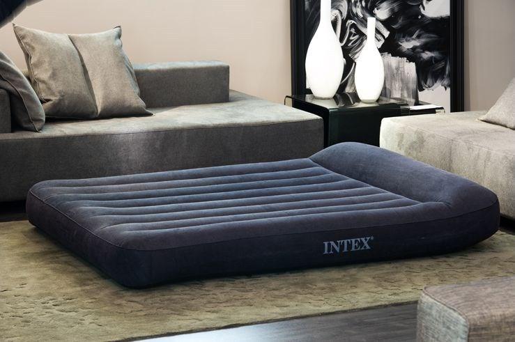 INTEX - nafukovací postel 66781 Classic Pillow QUEEN s integrovanou elektrickou pumpou