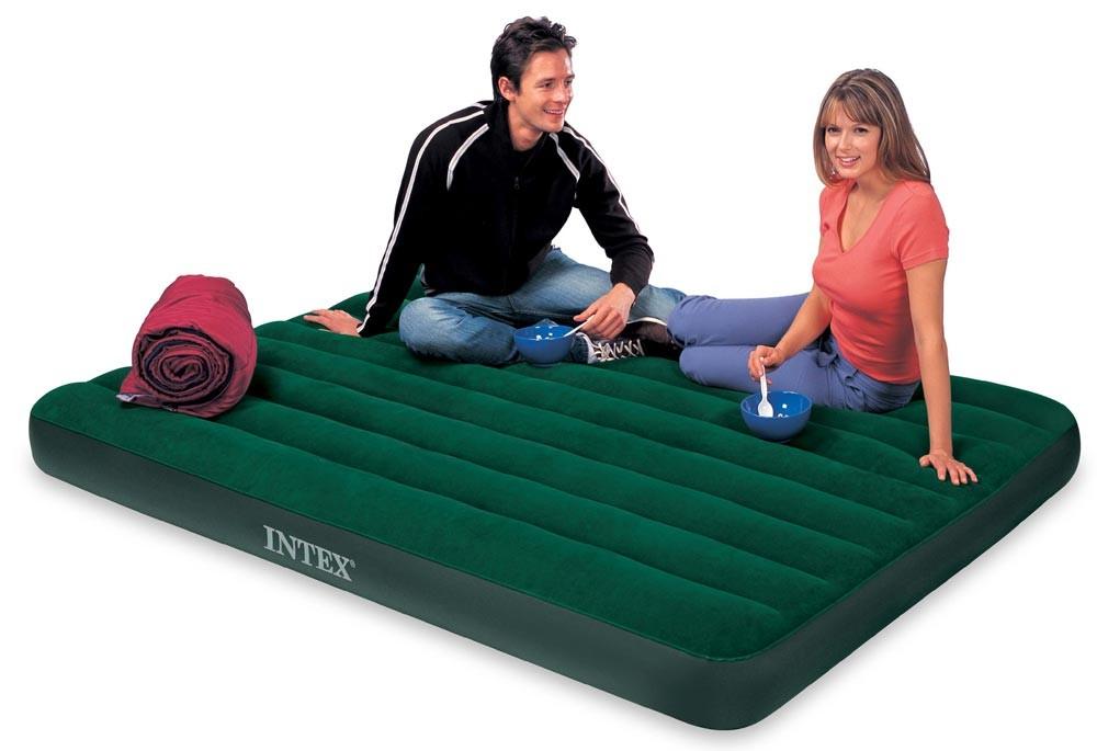INTEX - nafukovací postel 66969 Queen Prestige Downy s přiloženou elektrickou pumpou