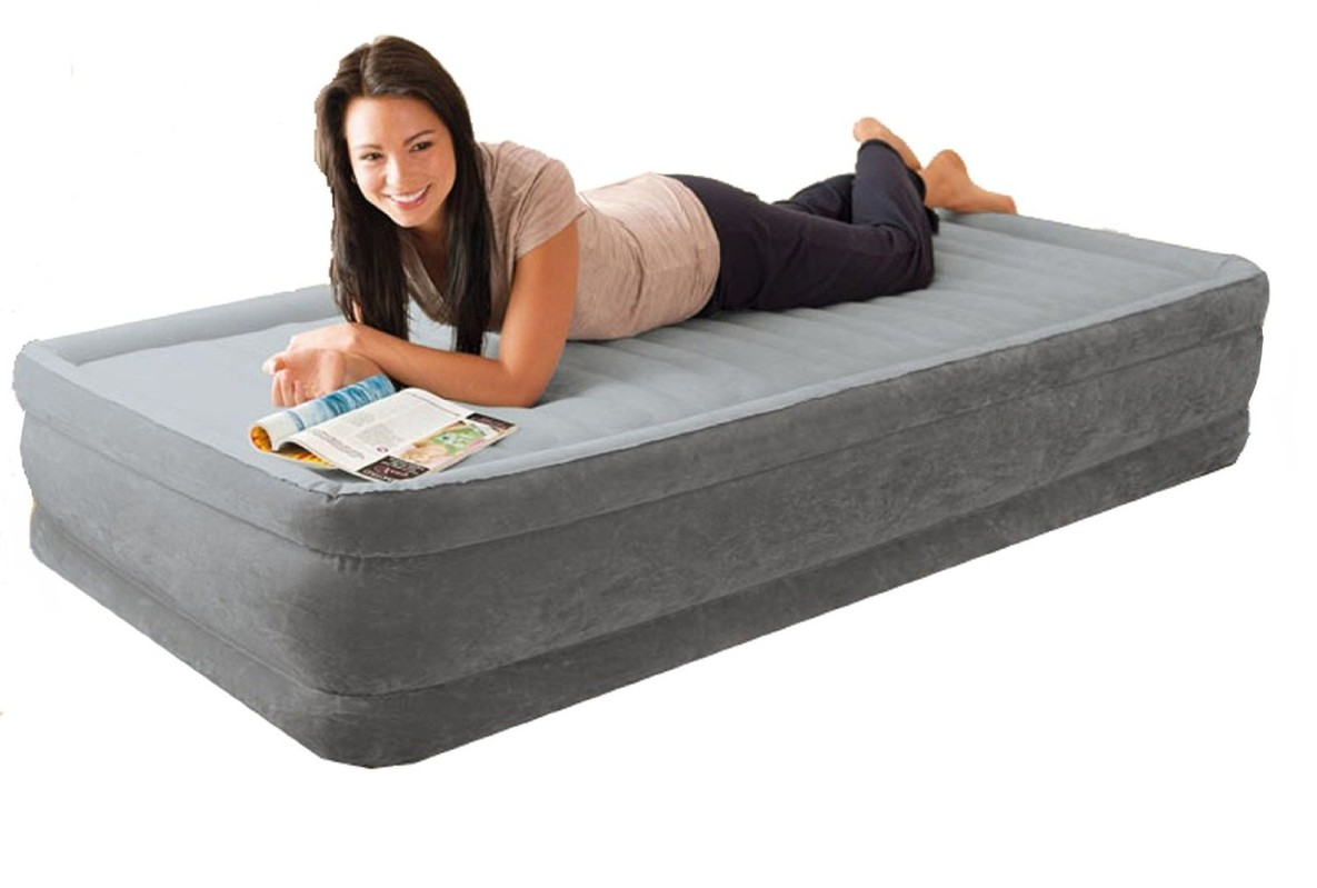 INTEX - nafukovací postel 67766 Comfort TWIN s integrovanou elektrickou pumpou
