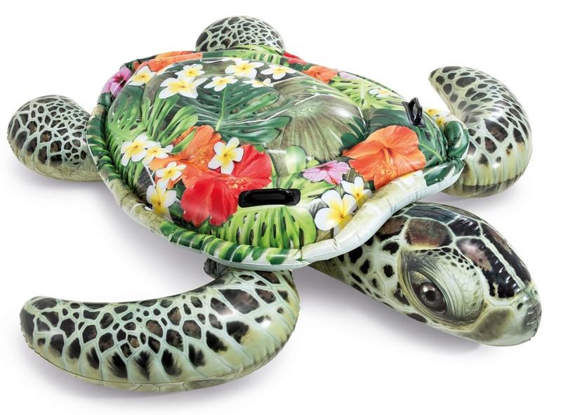 INTEX - Nafukovací realistická mořská želva s držadly 57555